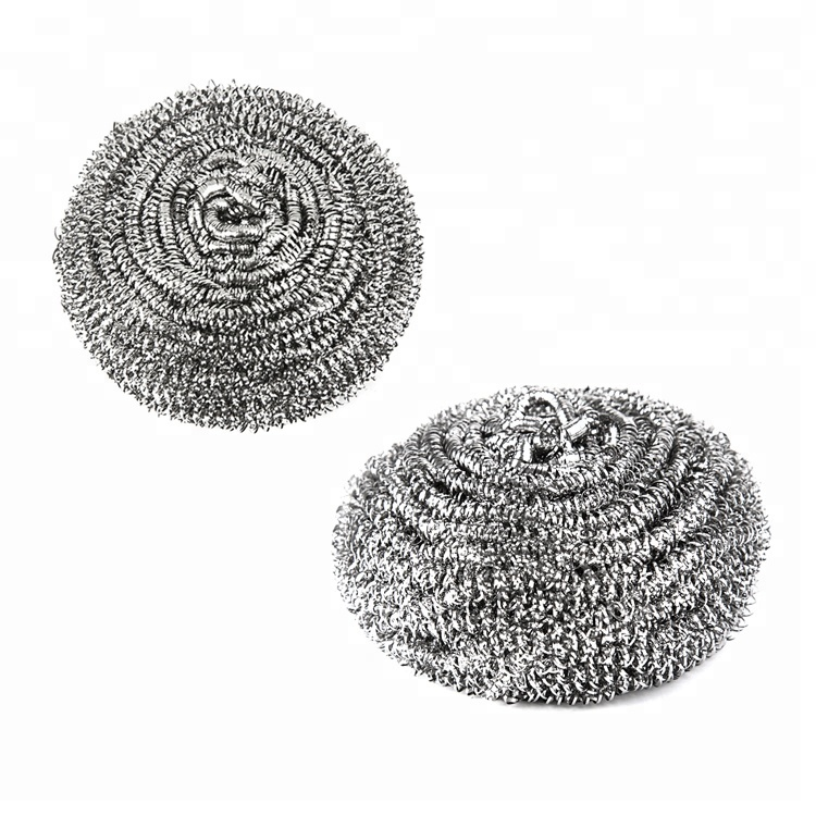 Promotional Stainless Steel Wool Scrubber Cleaning Plastic Mesh Scourer