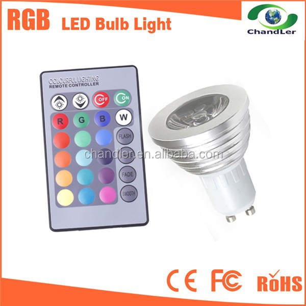 CHANDLER 3W LED DISCO rgb <strong>spotlight</strong> /led remote rgb light spot