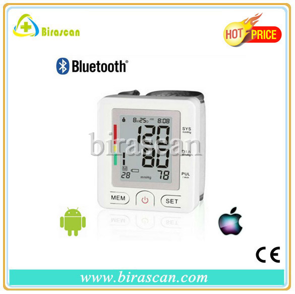 digital bluetooth blood pressure monitor wrist type can support both And. &iOS