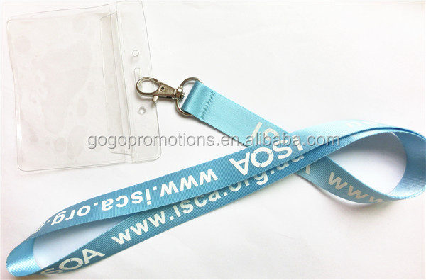 Business neck detachable plastic id card holder lanyard with ski pass holder