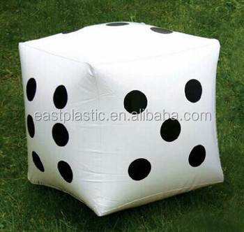 Funny Kids Inflatable Dice Play Toy For Promotion