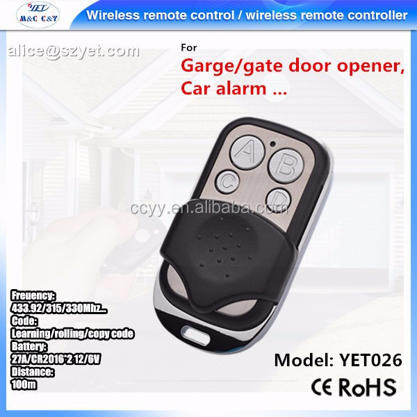 hottest wireless remote control for sliding gate electric motor dc 12v