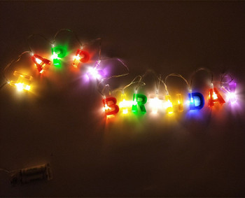 Battery Operated Happy Birthday LED String Lights