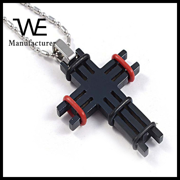 New Design Small Cross Pendant with Rubber Band