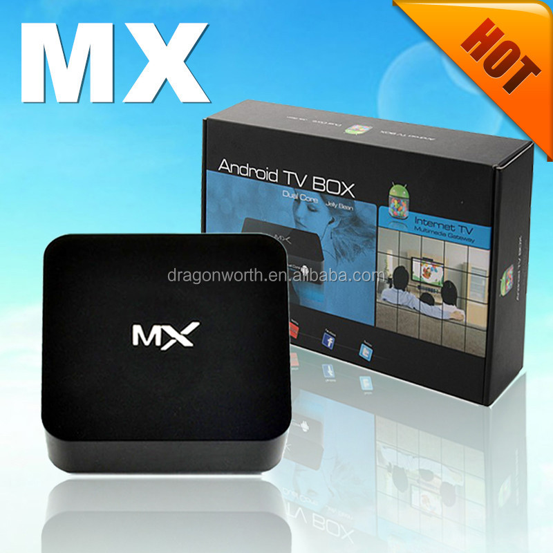 MX6 Android TV box con amlogic S805, Quad Core MX Android Smart TV box Internet Android TV box set
