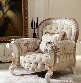 New design classic French style living room furniture graceful solid ...