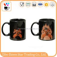 black fashionable charactor promotional design high quality 11oz color change cartoon coffee mug