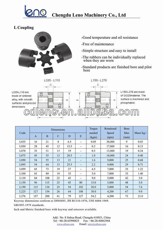 Flexible Insert L Type Lovejoy 075 Rubber Coupling Buy Flexible Coupling L Coupling Coupling Rubber Product On Alibaba Com