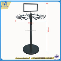 floor standing belt and tie rack display retail wire display rack hooks
