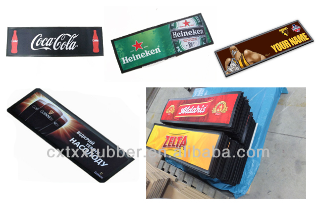 Good price soft rubber jagermeister bar mat with board