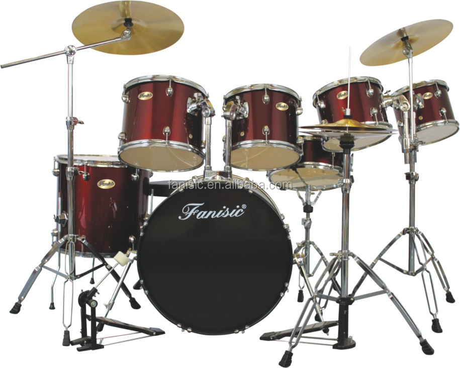 Professional 7 Pc Drum Set For StagePerformer 9 Ply Wood Kit7 Pcs Kit