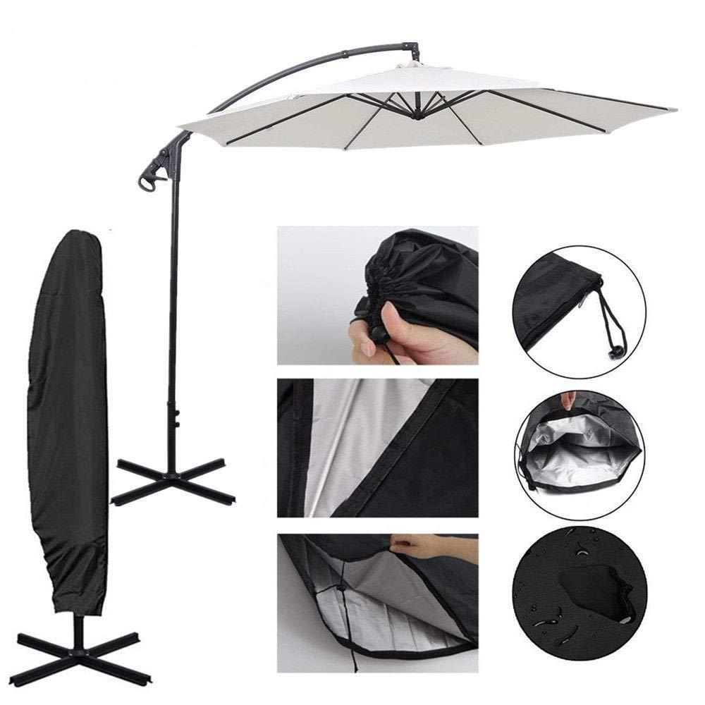 WALLER PAA] Waterproof Offset Parasol Cantilever Garden Hanging Umbrella Cover Sun Shade