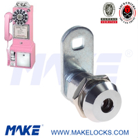 high security Coin Operated pink payphone lock