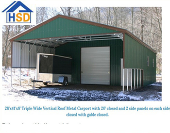 china cheap steel carport with small garage