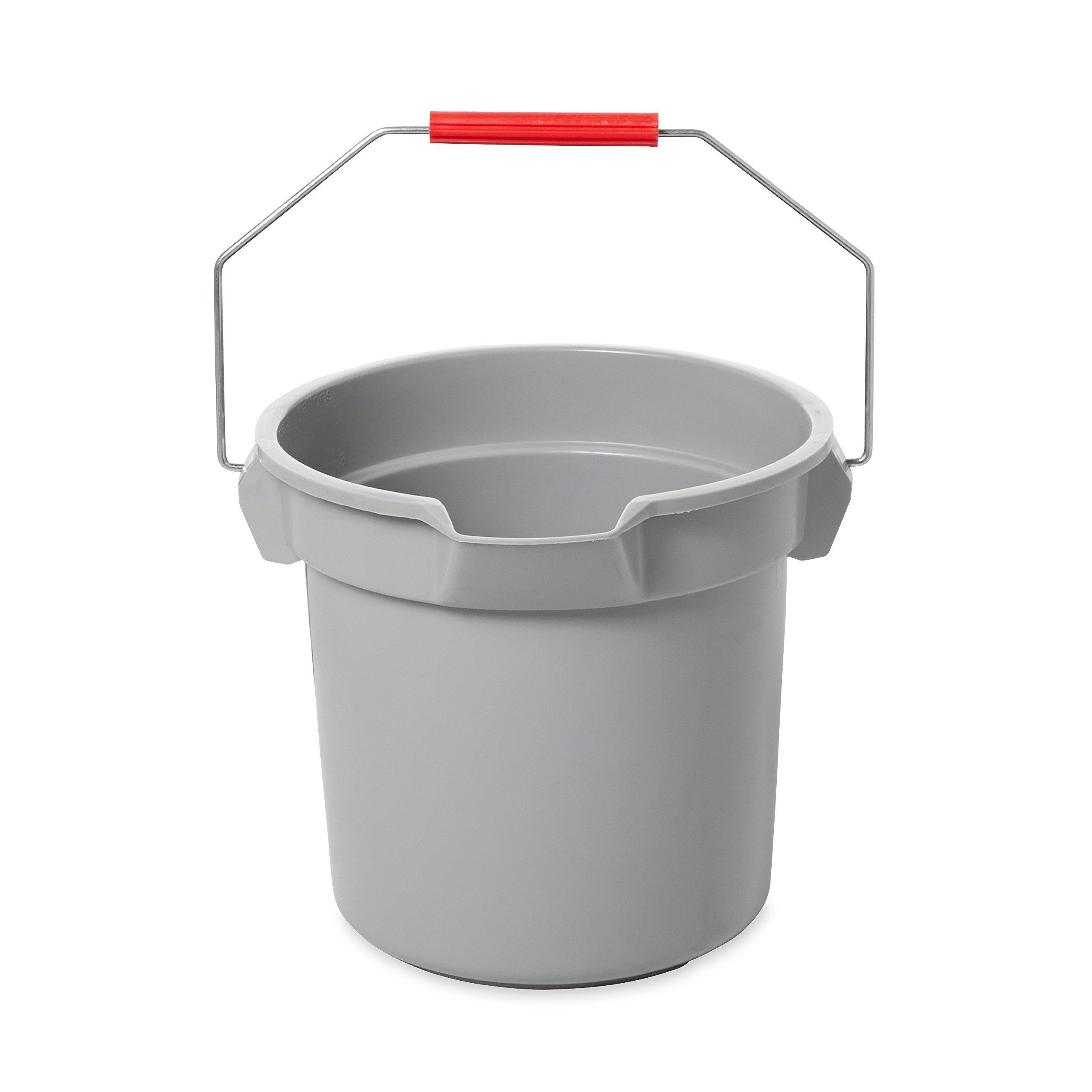 Rubbermaid Commercial BRUTE Bucket, 14-Quart, Gray