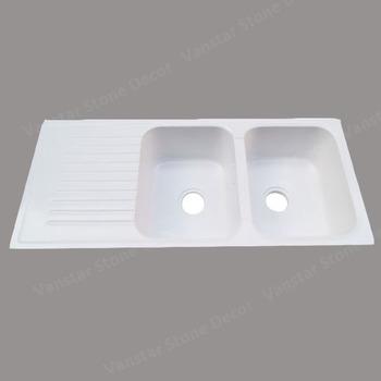 Vanstar Artificial Stone Double Bowl Quartz Composite Kitchen Sinks ...