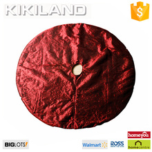 Fashional handmade burgundy velvet Christmas tree skirt