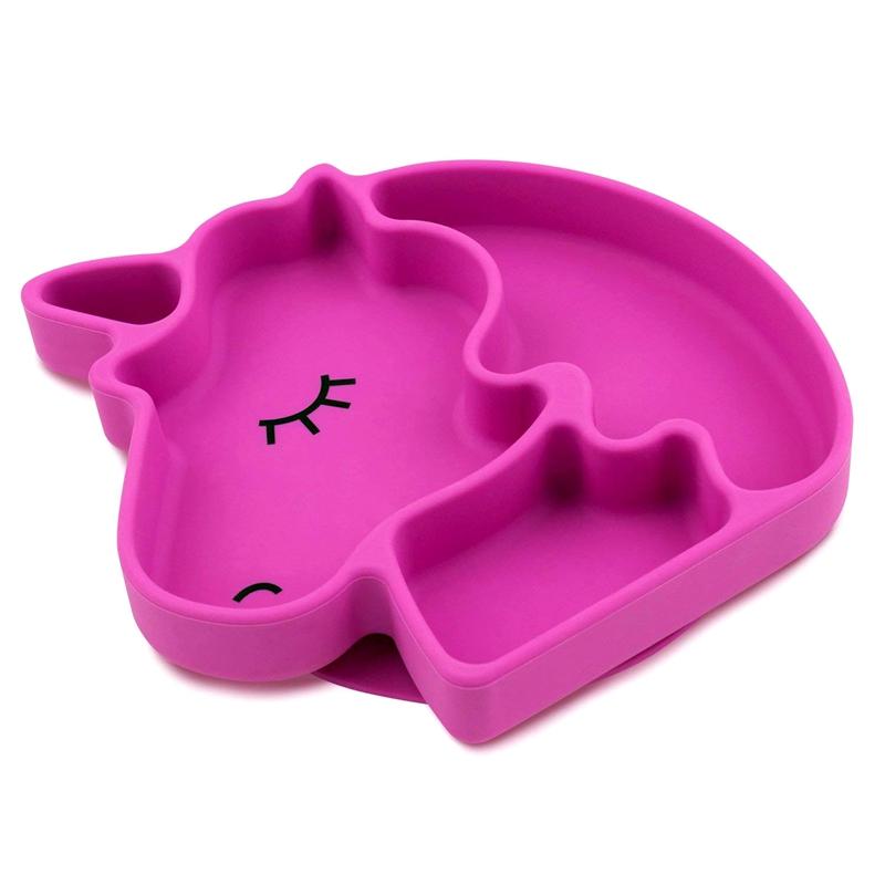 Non-slip Unicorn Shape Silicone Placemat Portable Baby Placemat for Kids, Silicone Kids Placemat фото