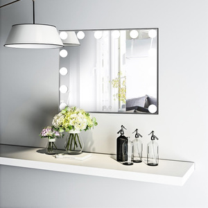 Illuminated led bathroom vanity makeup mirror with lights Dimmable