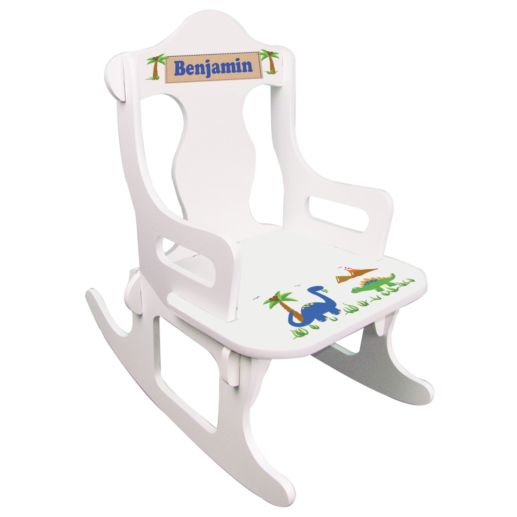 Personalized Dinosaurs Puzzle Rocker