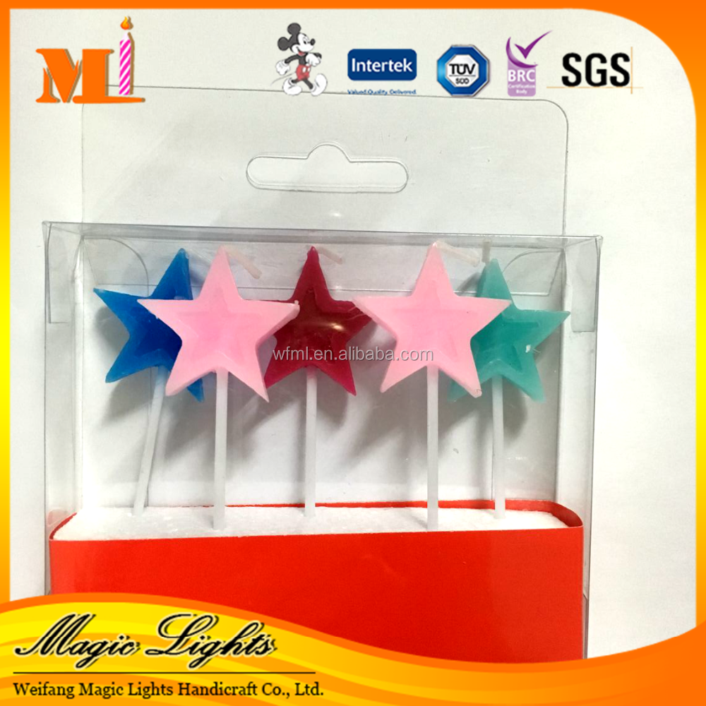 Direct Selling Best-selling Personalized Eco-friendly Raw Material Star Candles