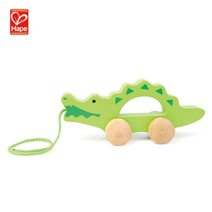 Hape Hot Sale New <strong>Product</strong> Crocodile Baby Walker Toys <strong>Wooden</strong>,Baby Toddler Walker Wheels