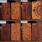 TOMOCOMO Natural Real Wood + Pc Case Para For iPhone 5 5s se 6 6 splus Novedad Vintage Case Cover Para For iPhone 7 7 plus