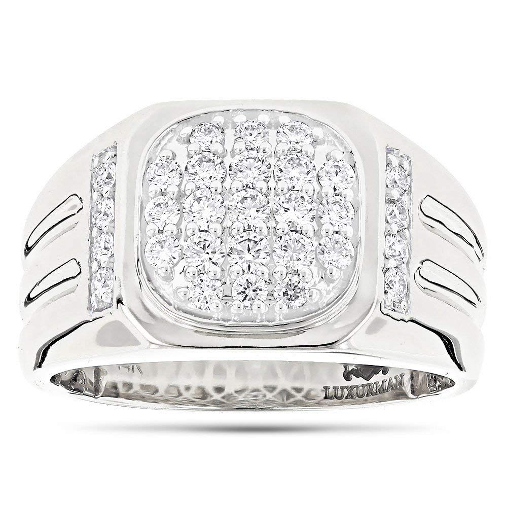 2360446b62c580 Get Quotations · Men's Diamond Band 14k Rose, White or Yellow Gold Pinky  Ring 1ctw G-H Color by