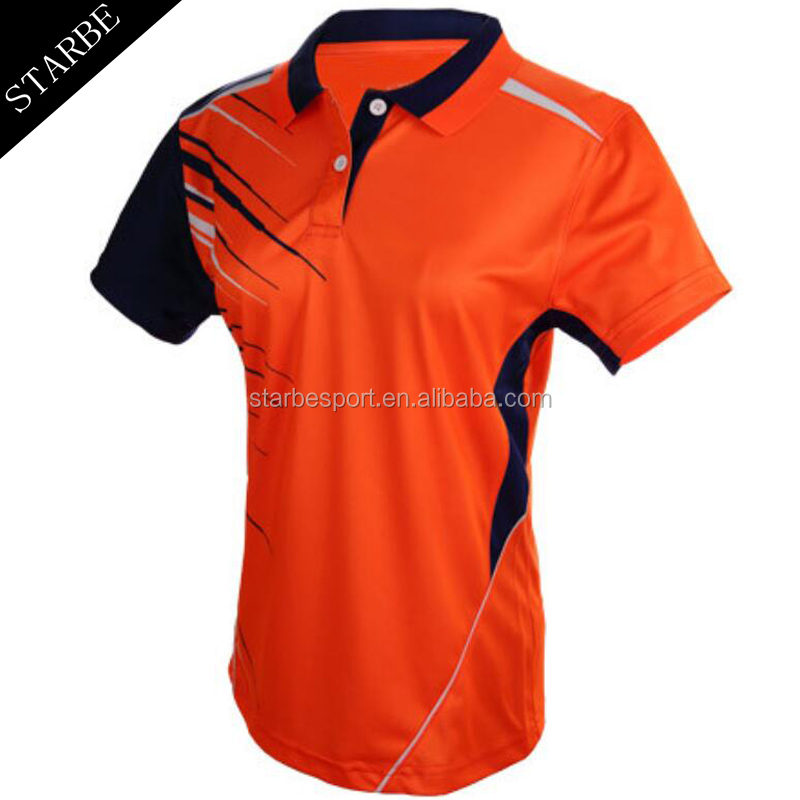 Custom Promotion bamboo sublimation printing polo golf tee shirt