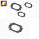 electrically conductive gaskets die cut rubber Silver coated aluminum emi gasket mounting half round rubber