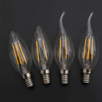 Long filament flame bulb