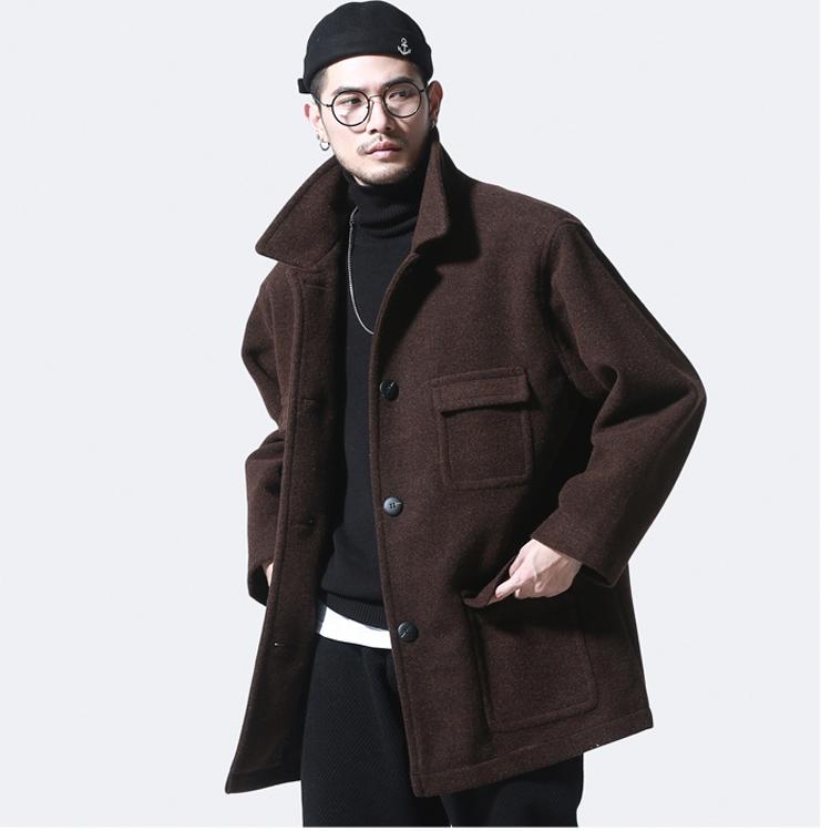 Winter men's retro coat casual woolen coat