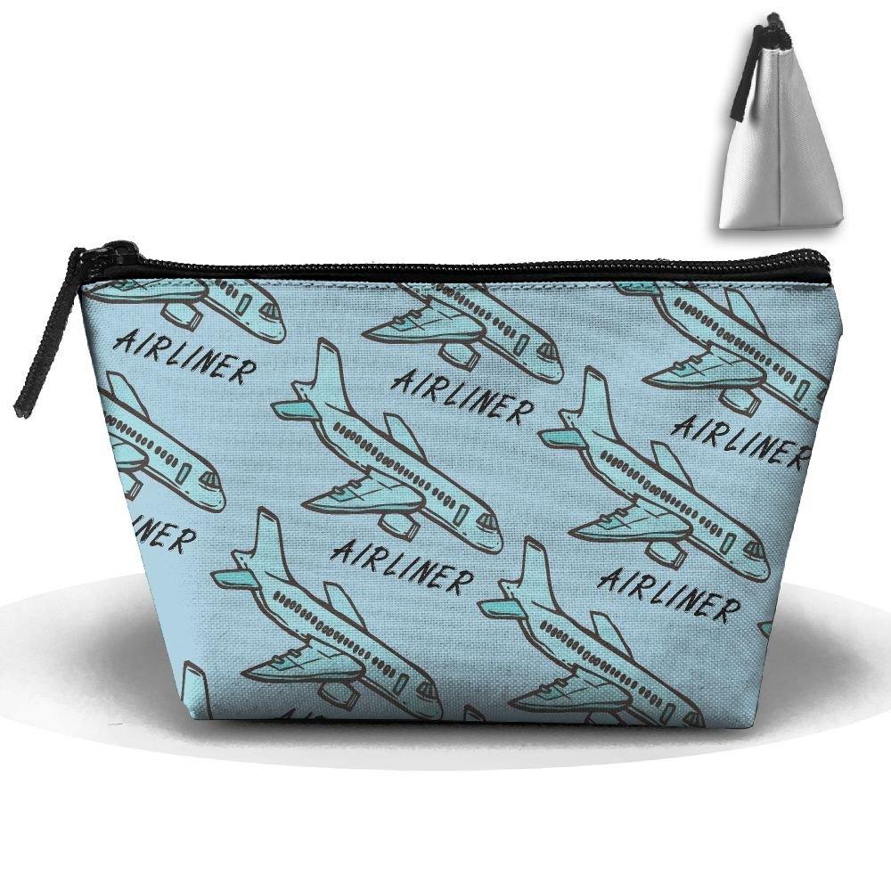 Get Quotations · Airplane Airliner Cartoon 3D Print Mens Trapezoid Receive  Bag Portable WaterproofTravel Cases 9d07614d8de17