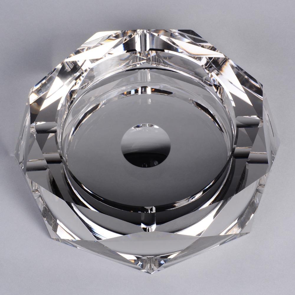 BRLIGHTINGเหลี่ยมที่เขี่ยบุหรี่คริสตัล9.9นิ้ว(D250mm)สำหรับในร่มและกลางแจ้ง,โฮมออฟฟิศตกแต่ง, 9.5lbs
