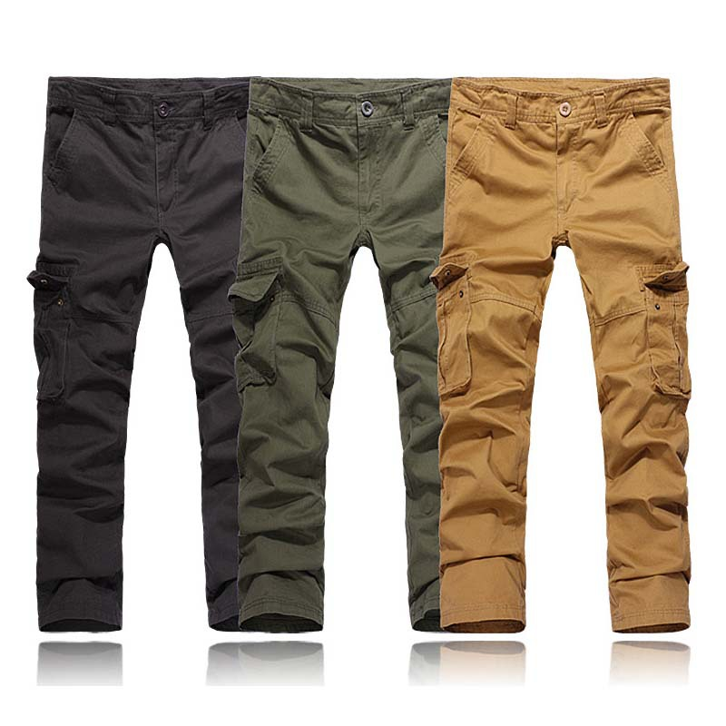 c9725814540 Get Quotations · Free shipping 2015 New Outdoor Sport Men s pants Cotton  Military sweatpants mens joggers Cargo Pants Work