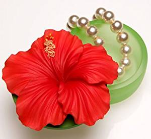 Red Hibiscus Keepsake Box by Ibis & Orchid #13006