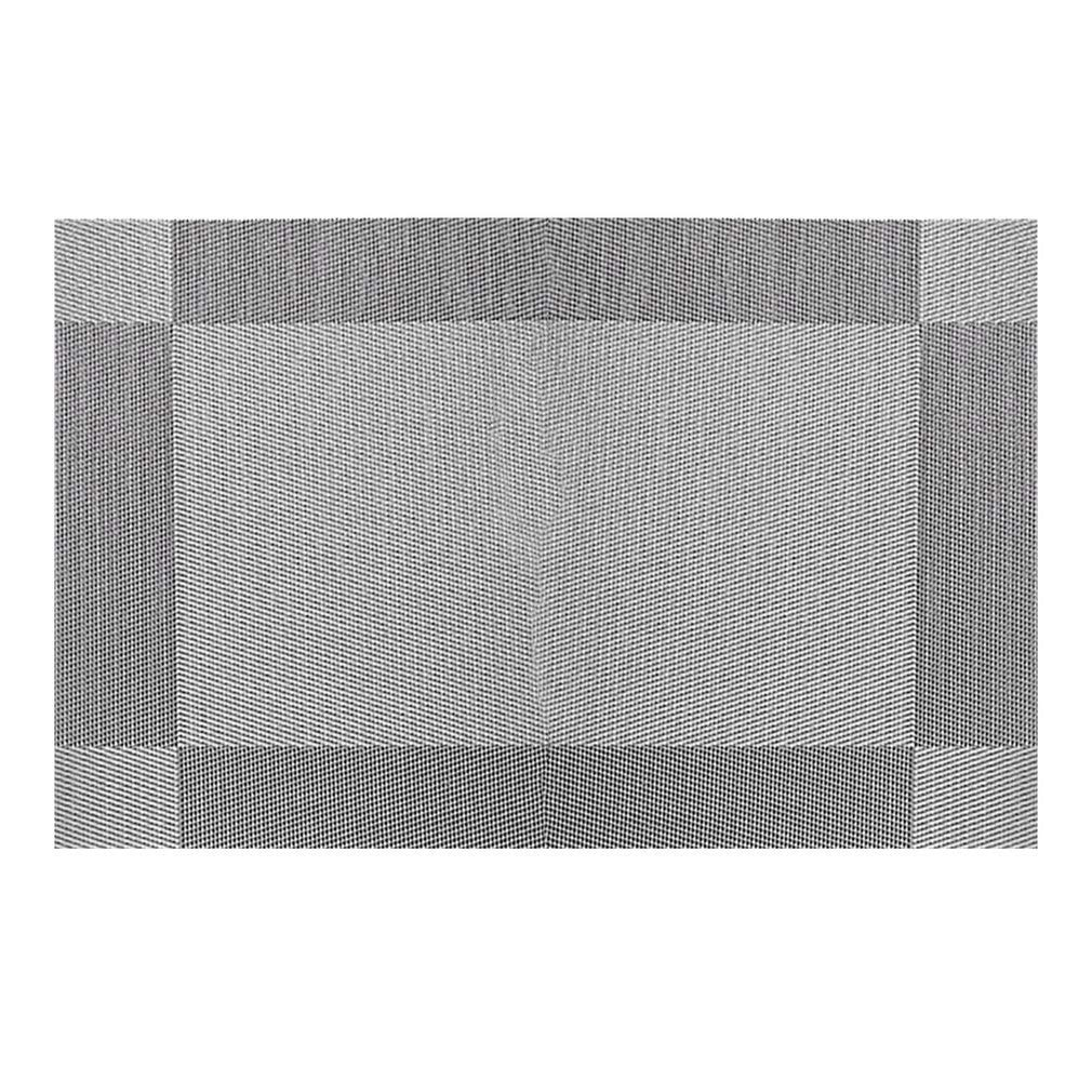 YCDC gray Cross Weave, PVC Place Mat, Non-slip, Stain Resistant,Washable Table Mats, For Kitchen Dining Table 2pcs Cross Weave PVC Place Mat Heat Insulation Washable Dining Table Mats