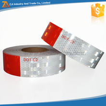 High Light PVC/PET Colored DOT Class 2 Reflective Safety Tape Red/White Strong Adhesive Glue Set