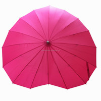 Ladies And Mens Fashion Fancy Umbrella,Fashionable Pink Heart Shaped Sun Umbrella