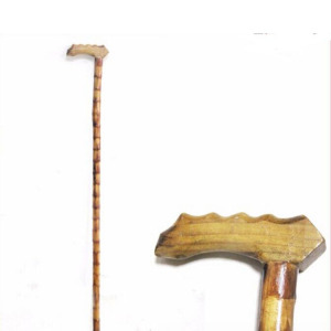 wooden cane elderly walking stick
