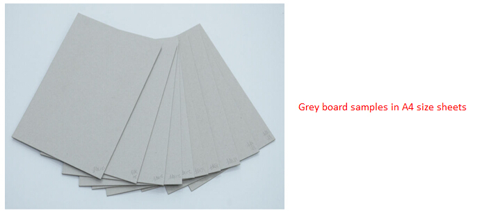 coated grey card board