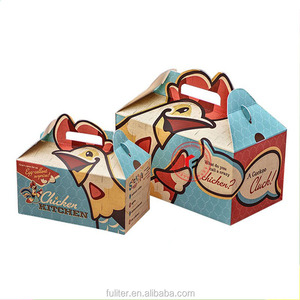 Wholesale custom printed gable fried chicken packaging boxes
