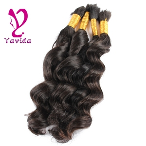 300g/lot xuchang factory price brazilian human hair extension brazilian human hair wet and wavy weave human hair bulk for braid