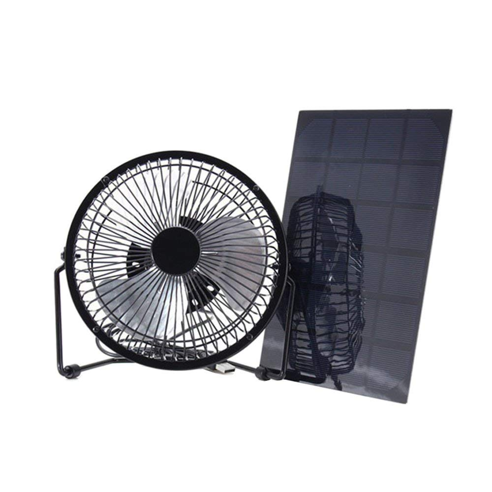 10W Solar Power USB Fan Mini Ventilation For Greenhouse Pet //Dog Chicken Home