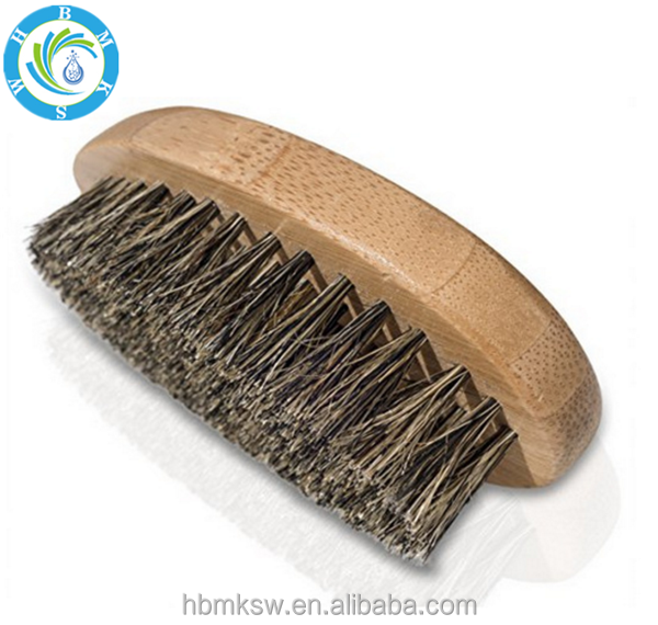 wholesale Manufacture custom logo Boar Bristle hair wooden handle Men Shave Beard Brush