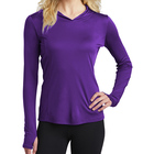 Womens Customized color Sweatshirt jersey Pullover with thumbhole