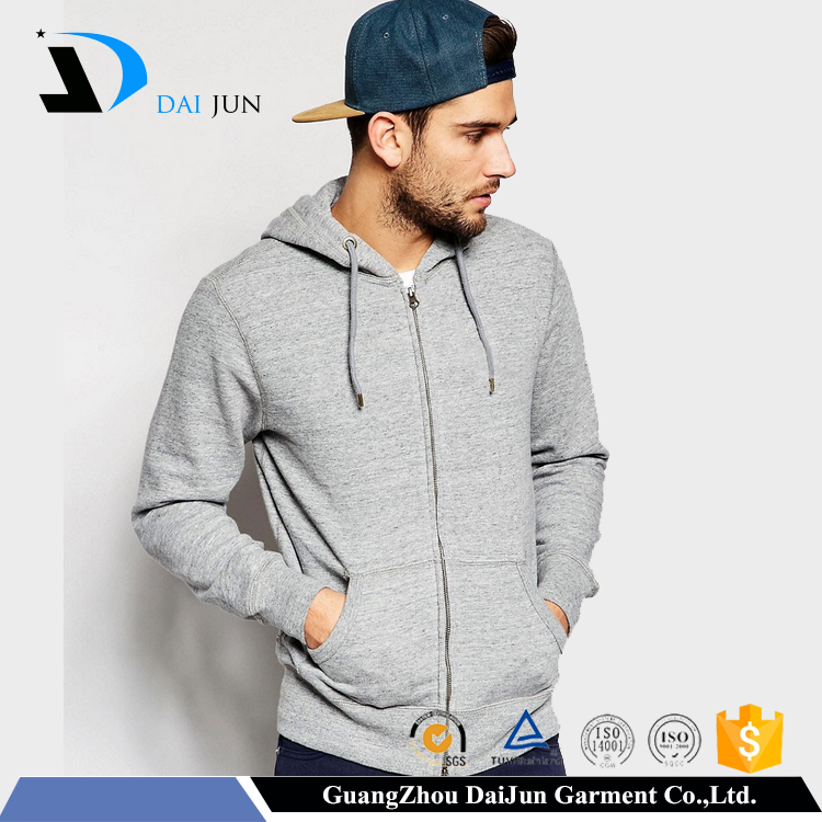 cheap blank with hood 100% cotton grey high quality custom oversized hoodie men