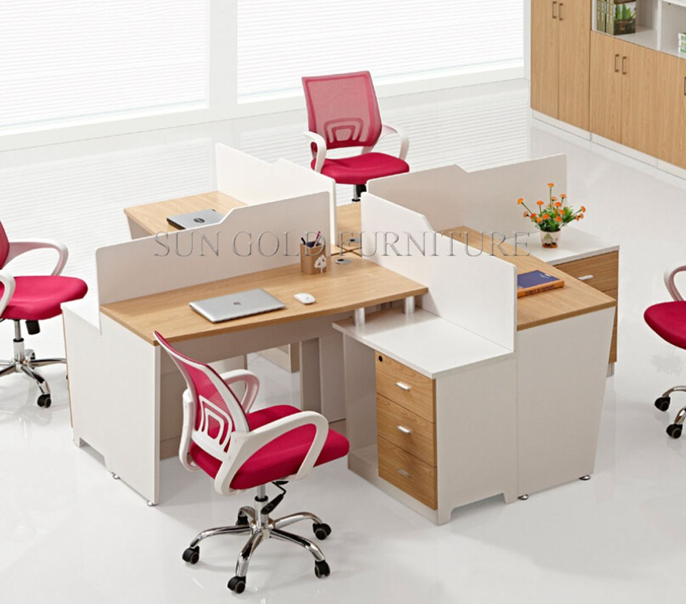 2017Lastest Malaysia Style Crossing Round Shape 4 Seat Office Workstation Cubicle(SZ-WS913)