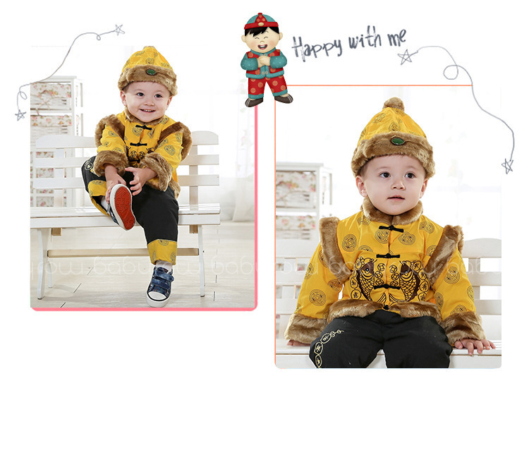 73fba55c4da51 Free shipping New Hot sale Chinese style Costume Children dress quilted  vest baby suits baby costume cotton Coat and pants