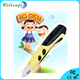 2018 hottest OLED dispay micro USB charging 6th generation 3d printer pen for kids